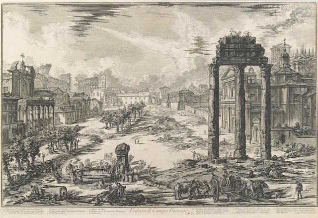 Giovanni Battista Piranesi (Italian, 1720-1778); Veduta di Campo Vaccino..., from Vedute di Roma;
