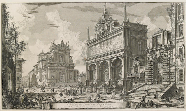 Giovanni Battista Piranesi (Italian, 1720-1778); Veduta del Castello dell'Acqua Felice, from Vedute di Roma;