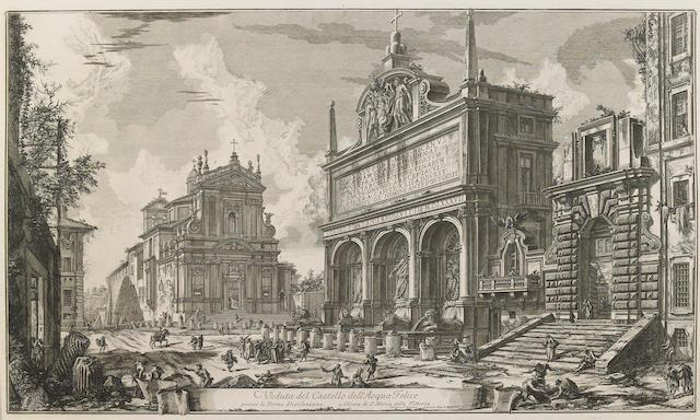 Giovanni Battista Piranesi (Italian, 1720-1778); Veduta del Castello dell'Acqua Felice, from Vedute di Roma;
