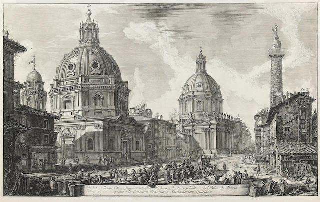 Giovanni Battista Piranesi (Italian, 1720-1778); Veduta delle due Chiese..., from Vedute di Roma;