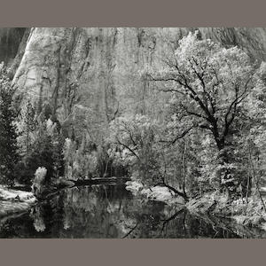 Ansel Adams (American, 1902-1984); Merced River, Cliffs, Autumn, Yosemite Valley;