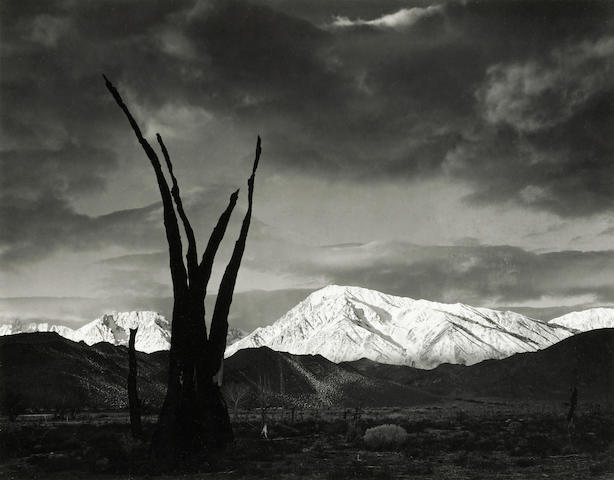 Ansel Adams; Sunrise, Mount Tom, Sierra Nevada, California;