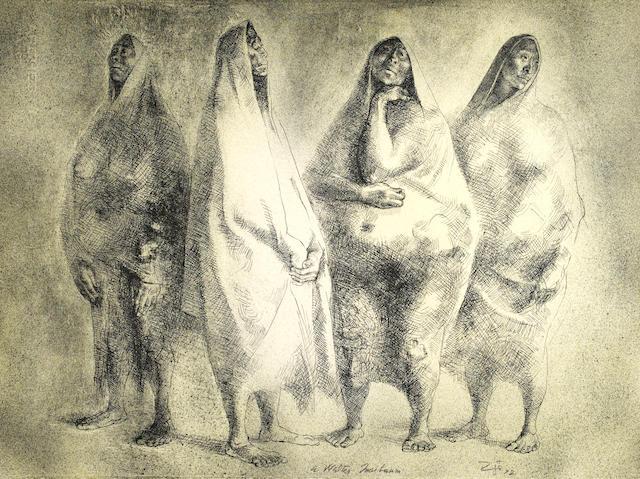 Francisco Zúñiga (Mexican, 1912-1998); Cuatro Figuras;