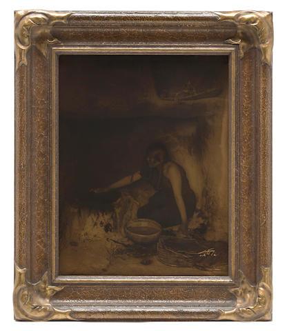 Edward S. Curtis (American, 1868-1952); The Piki Maker, Hopi;