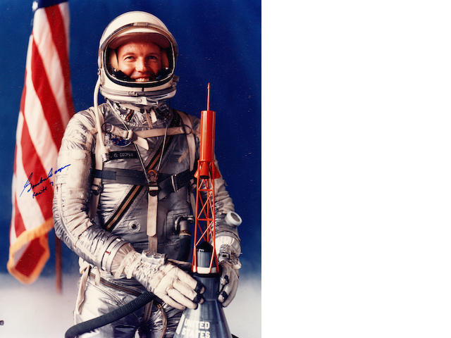 COOPER SPACE SUIT PORTRAIT. Color photograph,