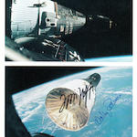IMAGES OF THE FIRST SPACE RENDEZVOUS.