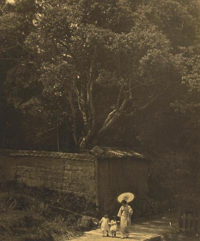 Ogawa Gesshu (Japanese, 1891-1967); Summer Stroll;