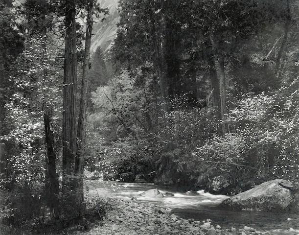 Ansel Adams (American, 1902-1984); Tenaya Creek, Spring Rain;