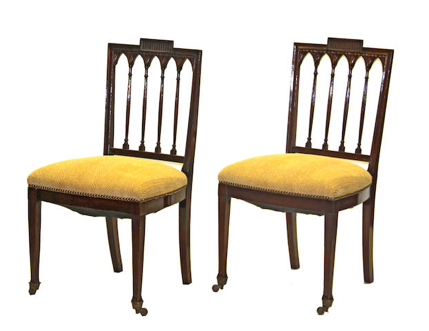 A set of four George III mahogany chairs late 18th century