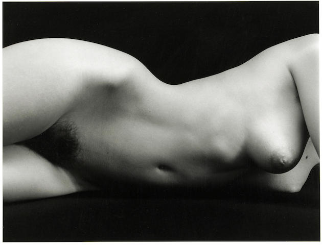 Brett Weston (American, 1911-1993); Untitled (Nude Torso);