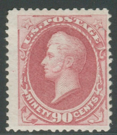 90c rose carmine (166) bright color, redistributed o.g., tiny sealed tear, otherwise fine, with P.S.A.G. certificate (2011). $2,250.00