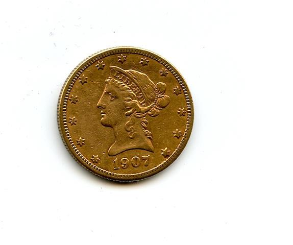 1907-S $10