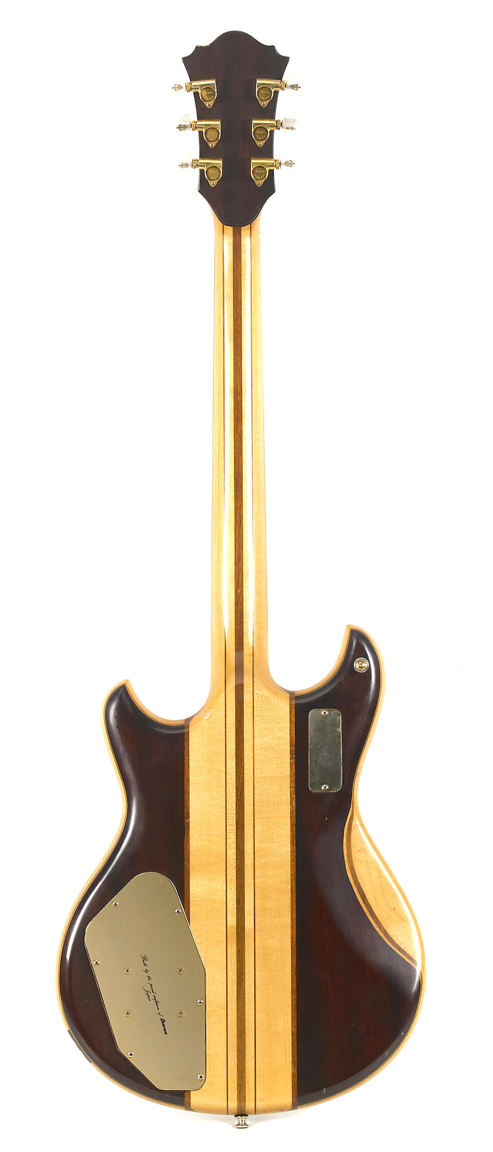 A guitar designed by Ibanez in conjunction with Jeff Hassleberger and Bob Weir, ca. 1977