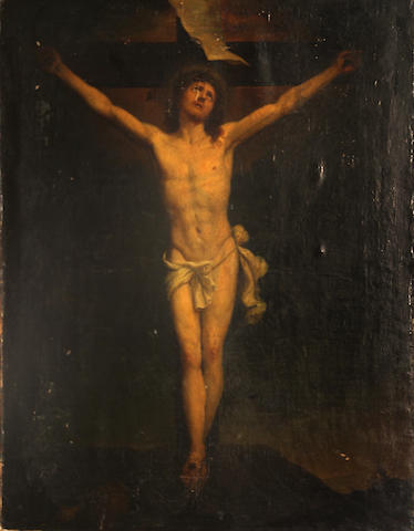 Flemish School, 17th Century Christ on the Cross 25 x 20in
