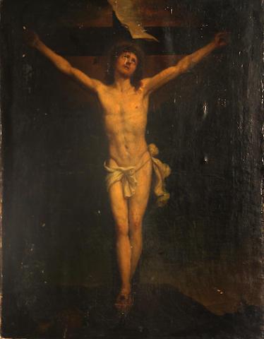 Flemish School, 17th Century Christ on the Cross 25 x 20in