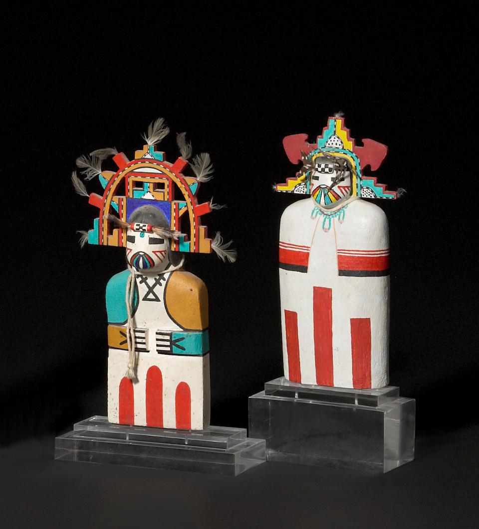 Two Hopi cradle kachina dolls
