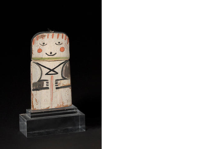 A Hopi cradle kachina doll