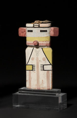 A Hopi cradle kachina doll