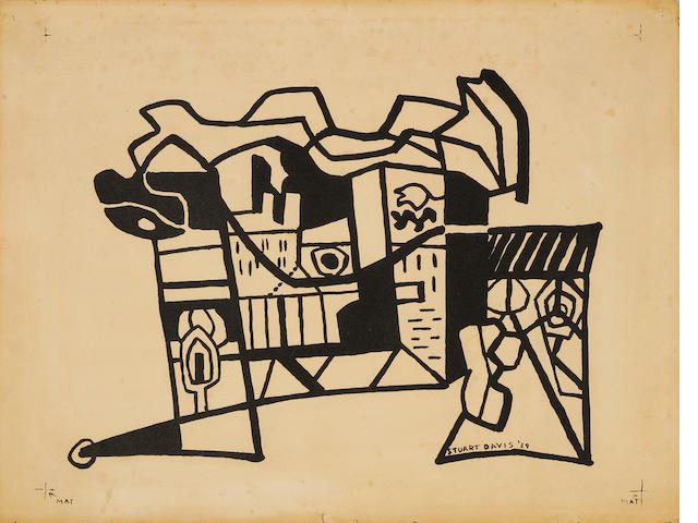 Stuart Davis (American, 1894-1964); Harbor Landscape (Funnel and Smoke);