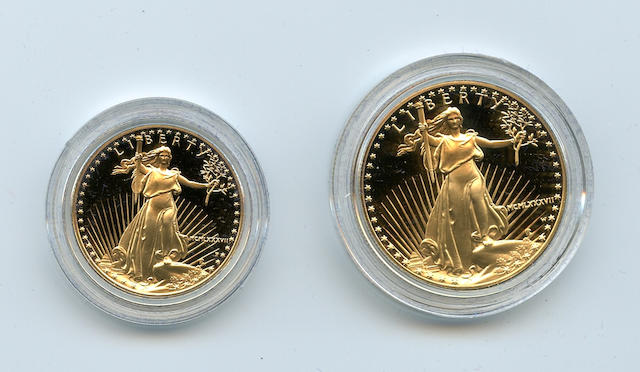 1987 Proof $50 and $25 Gold American Eagle Set