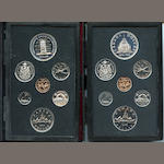 Canada, 1976 and 1977 Royal Canadian Mint 7 piece Proof Sets
