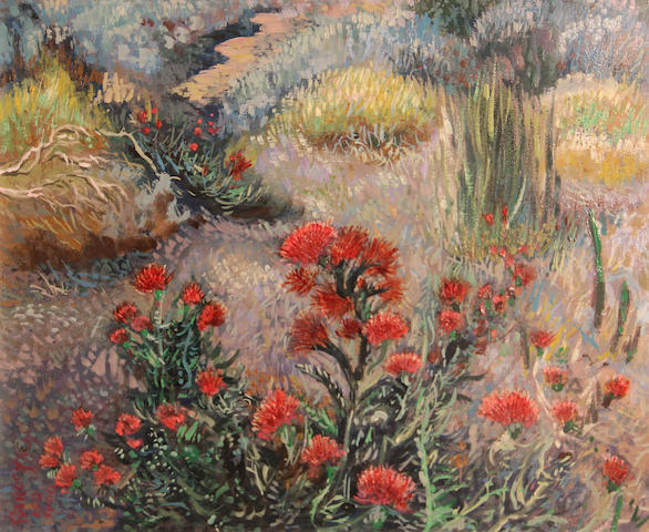 William Joseph Rakocy (American, born 1924) Mogollon thistles, 1990 16 x 20in