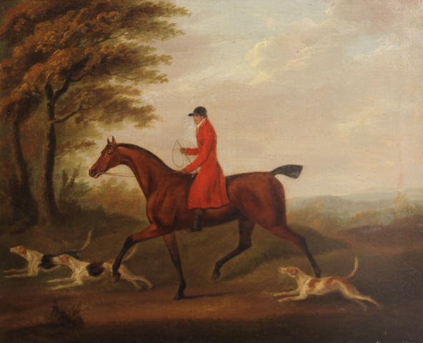 English School Going to the meet; The chase; The find; The death (a set of four) each 14 x 17 1/2in