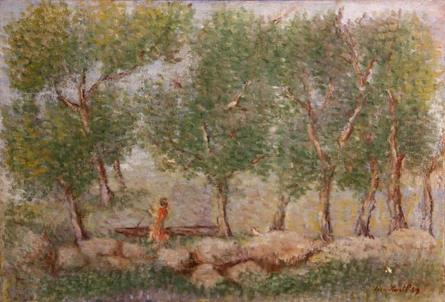 Leon Hartl (American, 1889-1973) Onderdonk lake, New York, 1959 17 x 25in