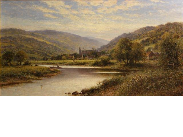 Alfred Augustus Glendening (British, 1840-1921) Tintern Abbey 16 x 30in