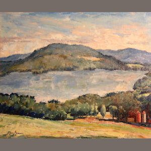 J. Barry Greene (American, 1895-1966) Lake at Tanglewood 15 x 18in