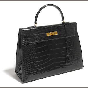 A Hermes black handbag