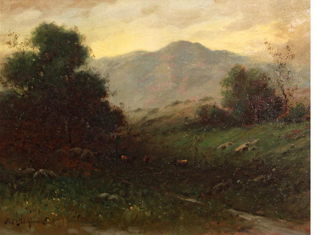 Alexis Matthew Podchernikoff (Russian/American, 1886-1933) Mount Tamalpais from Mill Valley 12 x 16in