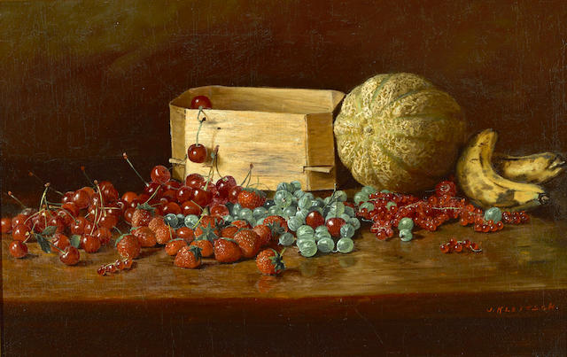 Joseph Kleitsch (1882-1931) Still life of fruit 14 1/4 x 22 1/4in