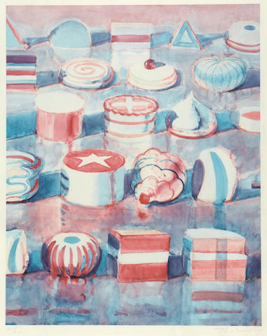 Wayne Thiebaud (American, born 1920); Display Rows;