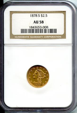 1878-S $2.5 AU58 NGC