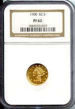 1900 $2.5 PF62 NGC