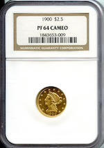 1900 $2.5 Proof 64 Cameo NGC