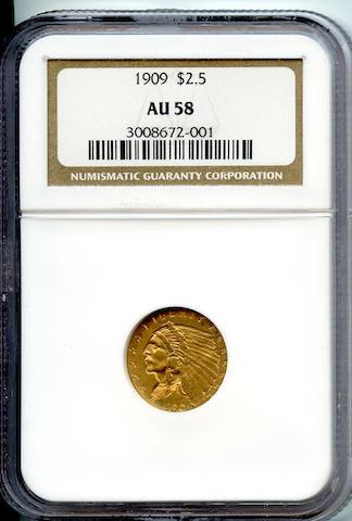 1909 $2.5 AU58 NGC
