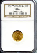1926 Sesquicentennial $2.5 MS64 NGC