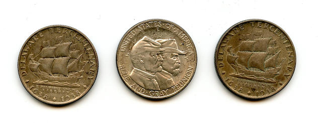 Commemorative Half Dollars (3)