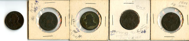 Draped Bust Half Cents (5)