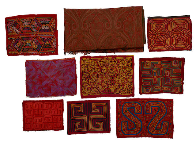A group of Southeast Asian textiles