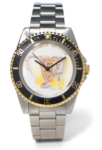 J. Garcia Artwear, Benrus Art Watch in Box, Sample Number 1, a prototype
