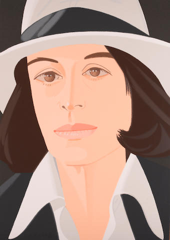 Alex Katz (American, born 1927); Ada in a White Hat;