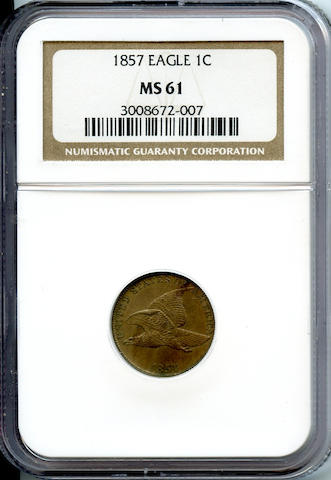 1857 Flying Eagle 1C MS61 NGC
