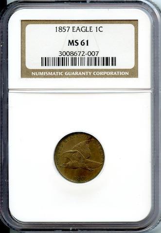1857 1C MS61 NGC