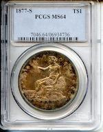 1877-S T$1 MS64 PCGS