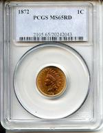 1872 1C MS65Rd PCGS