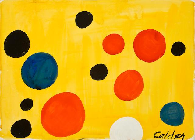 Alexander Calder (American, 1898-1976) Ballons, c. 1974 21 1/8 x 29 3/16in. (53.6 x 74.2cm)