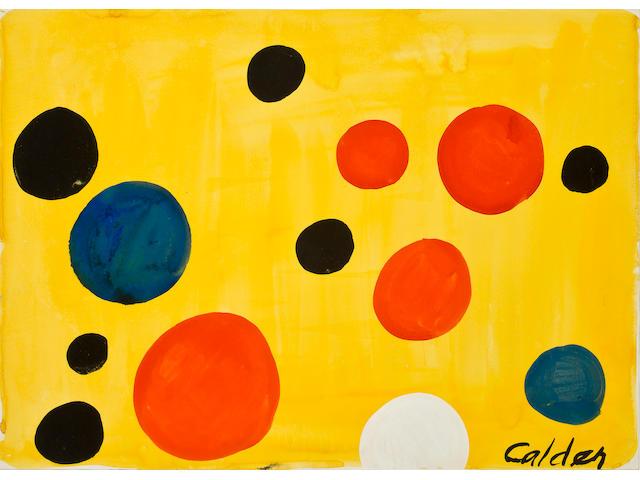 Alexander Calder (1898-1976) Ballons, circa 1974 21 1/8 x 29 3/16in. (53.6 x 74.2cm)